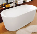 Baño de acrílico hecho en tina de baño derecha libre del óvalo de China