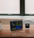 Цифровые часы станции погоды Rcc с Outdoor&Indoor Temp&RF 3 канала
