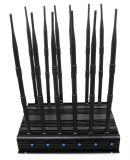 12 verbindt GPS VHF UHFLojack 3G 4G allen van WiFi van de Hoge Macht van antennes 28.5W Regelbare Blocker van het Signaal