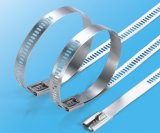 7.0X450mm PVCは316本の鋼鉄梯子のタイの金属ケーブルのタイに塗った