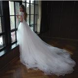 Милая рукавов шифон и кружева цвета слоновой кости свадебное платье