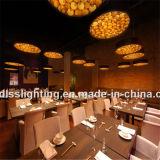 2017 Anillo de madera caliente luz lámpara colgante para la iluminación decorativa