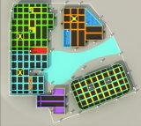 Heißer verkaufender Innenunterhaltungs-bunter Thema-Trampoline-Park