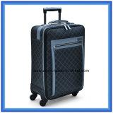 印刷PU革実用的な旅行荷物の箱、2つの回転の車輪が付いているカスタマイズされたトロリー箱