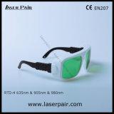 630 - 660nm Dir Lb3 & 800 - 830nm Dir Lb3 & 9001100nm Lb5 de Bril van de Veiligheid van de Laser Dir voor 635nm Rode Laser + 905nm, 980nm de Lasers van Dioden met Frame 36