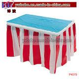 Postes d'usager rouges et décoration rayée blanche d'usager de jupe de Tableau (P4079)