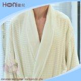 100% coton blanc Waffle Hotel Kimono peignoir avec broderie Logo