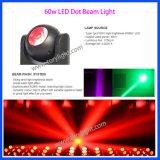 LEDの照明移動ヘッド60W小型ビーム点ライト