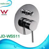 Miscelatore d'ottone del rubinetto dell'acquazzone della maniglia del quadrato della stanza da bagno del bicromato di potassio