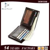Бумажника владельца карточки способа портмоне Bifold кожаный чисто кожаный