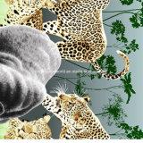 100%Polyester a pantera Pigment&Disperse imprimiu a tela para o jogo do fundamento
