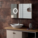 Espelho impermeável do diodo emissor de luz da vaidade do banheiro de Frameless Fogfree do hotel do mercado norte-americano