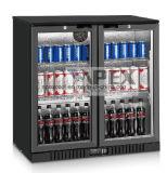Porta dois sob o refrigerador da barra da parte traseira do anúncio publicitário do refrigerador da barra