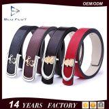 Belt Genuine Red Leatherファッション小物の女性女性のバックルベルト