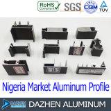 Perfil de aluminio del marco de la puerta de la ventana para el mercado de Nigeria África
