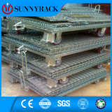 Contenitore pieghevole di alta qualità ed accatastabile resistente della maglia del filo di acciaio
