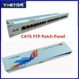 "Panel de conexiones FTP CAT6 1u 19 ""24port Blindado Marco de distribución"