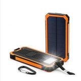 крен солнечной силы 15000mAh с заряжателем сильного электрофонаря пылезащитным солнечным