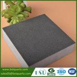 Partie supérieure du comptoir grise de pierre de quartz de dureté élevée pour la cuisine