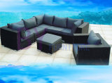 Mobília ajustada do jardim do sofá ao ar livre do sofá do Rattan do PE