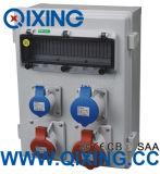 Caixa industrial da potência da combinação do soquete, cerco elétrico