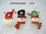 Decoración de Navidad Santa y sombrero de muñeco de nieve Gift-2sst