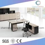 Bureau droit moderne de meubles de mélamine de Tableau d'ordinateur de forme