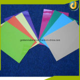 Tampas coloridas do emperramento da folha do PVC da melhor alta qualidade da venda para cadernos