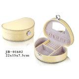 Случай/коробка Ювелирных Изделий Хранения Упаковки Подарка PU Люкс Европейского Желтого Цвета Вентилятора Конструкции Кожаный