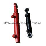 Levantar o cilindro hidráulico para o trator, projetando a maquinaria