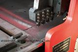 切られた機械に溝を作る鋼板