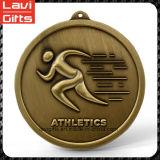 金張りのカスタムマラソンの金属メダル