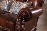 Il sofà di cuoio antico del salone ha impostato per la casa