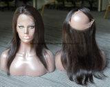 7A 브라질 Virgin 머리 100% 사람의 모발 360 레이스 정면 행복 머리