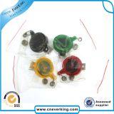 Carrete retractable modificado para requisitos particulares de la divisa de la tarjeta de la identificación del plástico de la insignia de epoxy