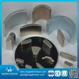 Изготовленный на заказ постоянный магнит мотора NdFeB неодимия