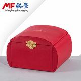 Produit de beauté de 2 couches d'Eco et cadre de bijou rouges amicaux