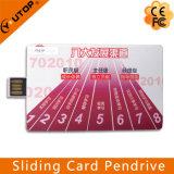 신용 카드 USB 기억 장치 지팡이 (YT-3111)를 미끄러지는 주문 선물