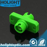 Simplex di plastica dell'adattatore FC APC con la flangia, verde