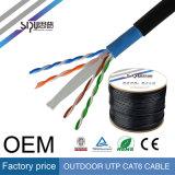 Câble imperméable à l'eau 23AWG extérieur 4p de LAN Ethernet de Sipu UTP CAT6