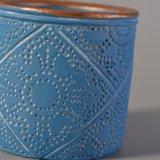 De lichtblauwe Kruik van de Kaars van de Decoratie van de Deklaag van de Kleur Concrete
