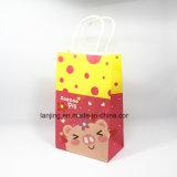 動物の漫画のキャリアのクラフト紙のギフト袋の買物をするハンドル袋