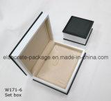 Caixa de jóias de madeira padrão de caixa de atacado de moda