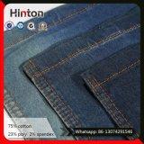 Tissu bleu-foncé de denim de sergé chaud de la vente 21s pour la jupe
