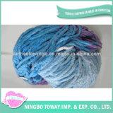 Высокопрочная связанная пряжа хлопка шерстей шарфа причудливый
