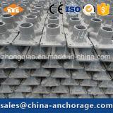 Asegurar la placa de cojinete del sistema en materiales de construcción del metal