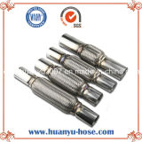 Double auto Layers Bellow Exhaust Flexible Pipe con Nipple