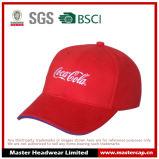 Rot-Baumwollzwischenlage-Spitzen-flache Stickerei-Baseballmütze 100% für Erwachsenen