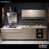 Nuovo disegno di alto armadio da cucina personalizzato lucido della lacca
