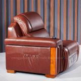 De echte Chaise van het Leer Bank Recliner van de Bank van het Leer Elektrische (626#)